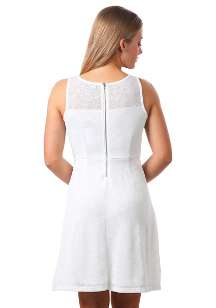 Gauze Fit and Flare Dress