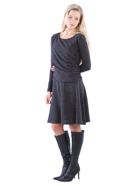 Ruched Drop Waist Dress