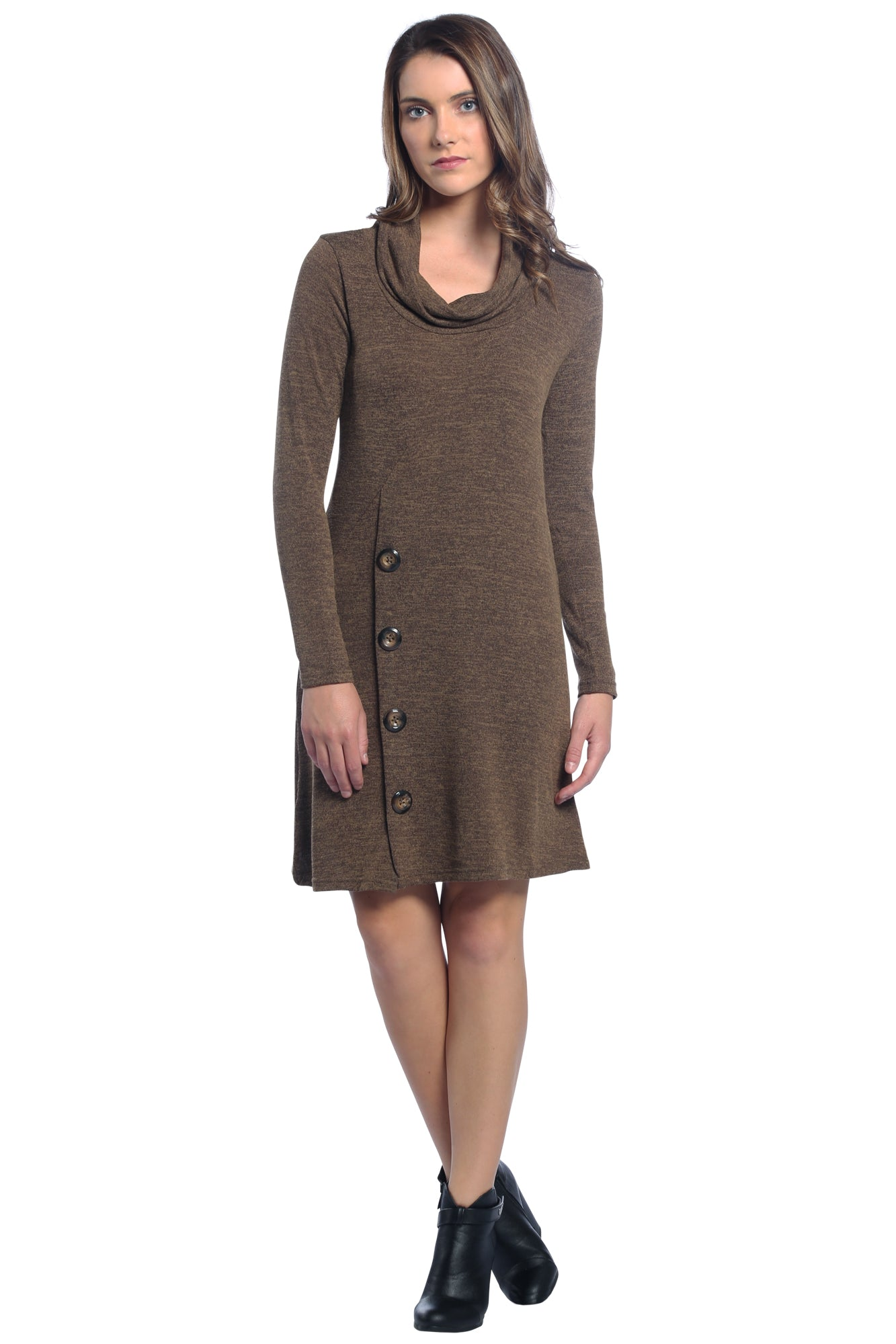 Brown Sweater Dress