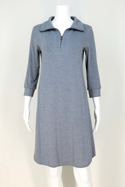 Athleisure Zip Collar Dress