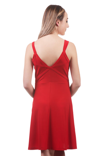 Womens Fit and Flare Bandage Dress | Athleisure Sporty |Neesha Fashion-Red