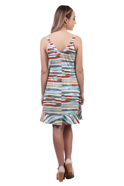 Women's Sporty A-Line Ruffle Dress | Printed Dress | Neesha Fashion