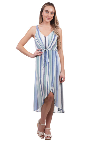 Striped Tie Bodice Dress