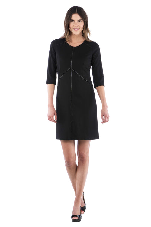 Zipper Trim Dress