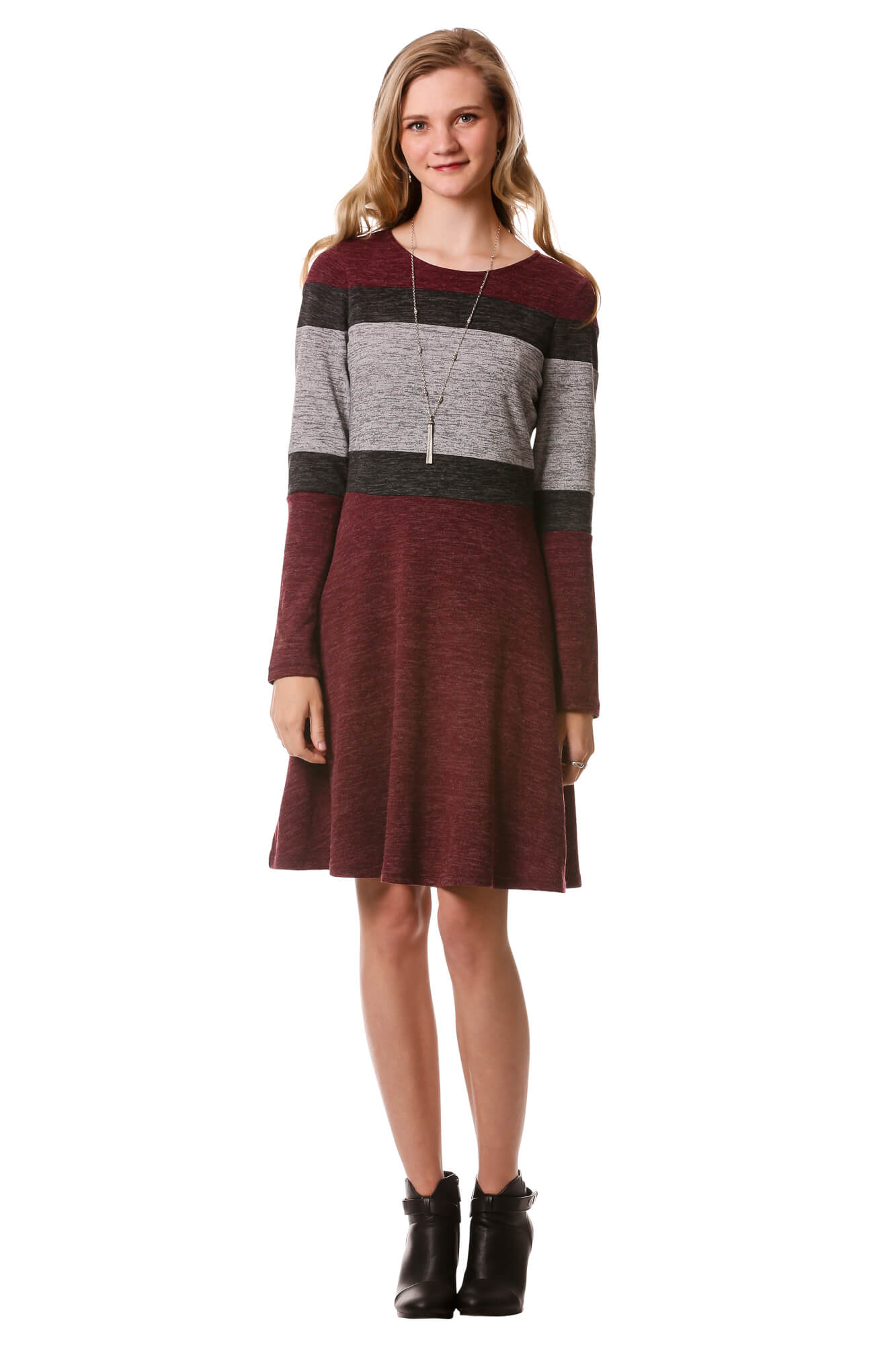 Horizontal Color Block Dress