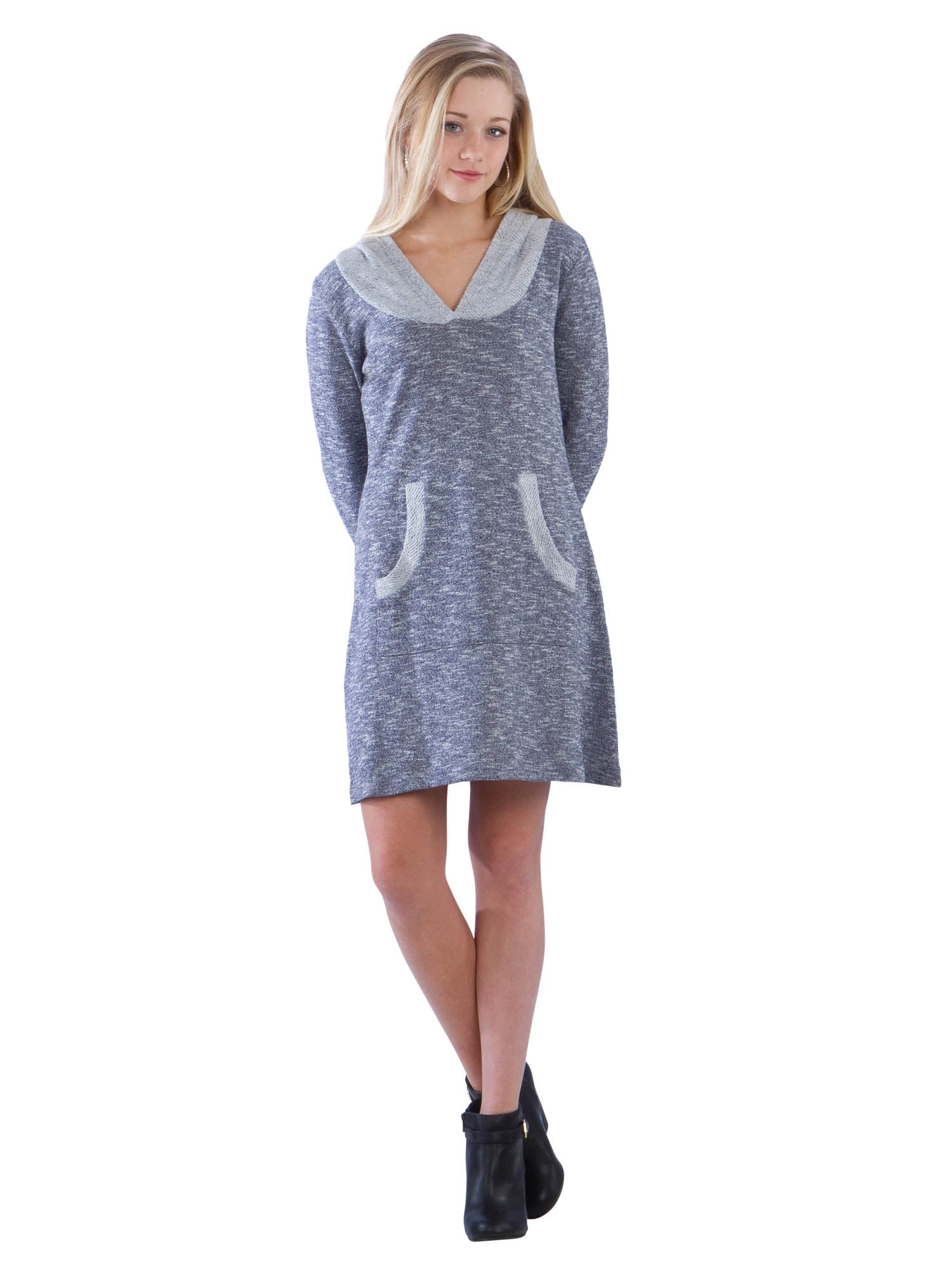Terry Sweater Hoodie Dress