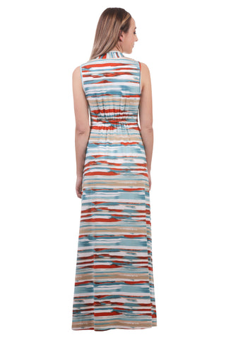 Women's Maxi Gathered V-Neck Beach Dress | Wrinkle Resistant | Neesha