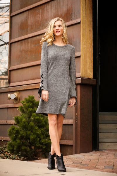Laced Bell Sleeve Dress