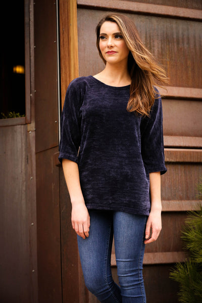 Chenille Dolman Sweater Top