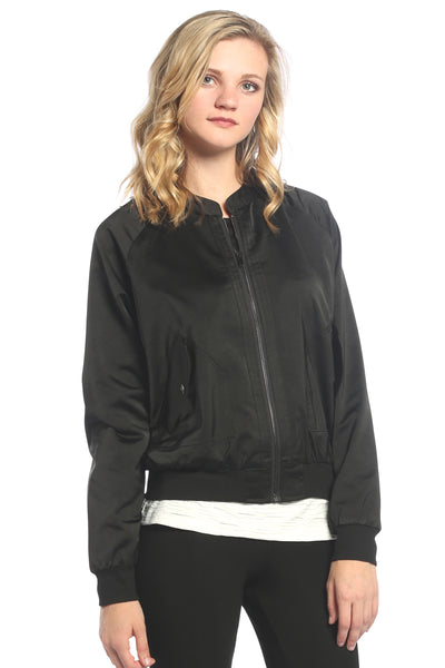 Satin Bomber Jacket