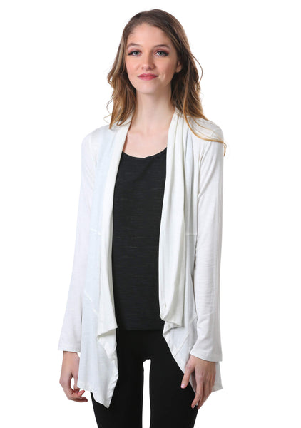 Women's Active Open Front Cardigan | Atleisure Slub Shrug | Neesha