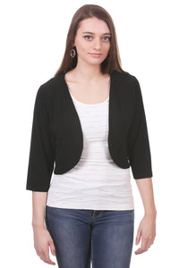 Cropped Ruched Back Shrug