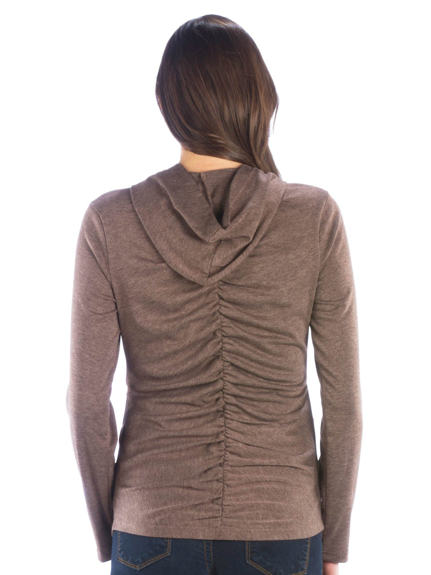 Ruched Zip Up Hoodie