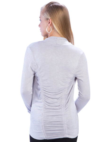 Slub Double Ruched Back Shrug