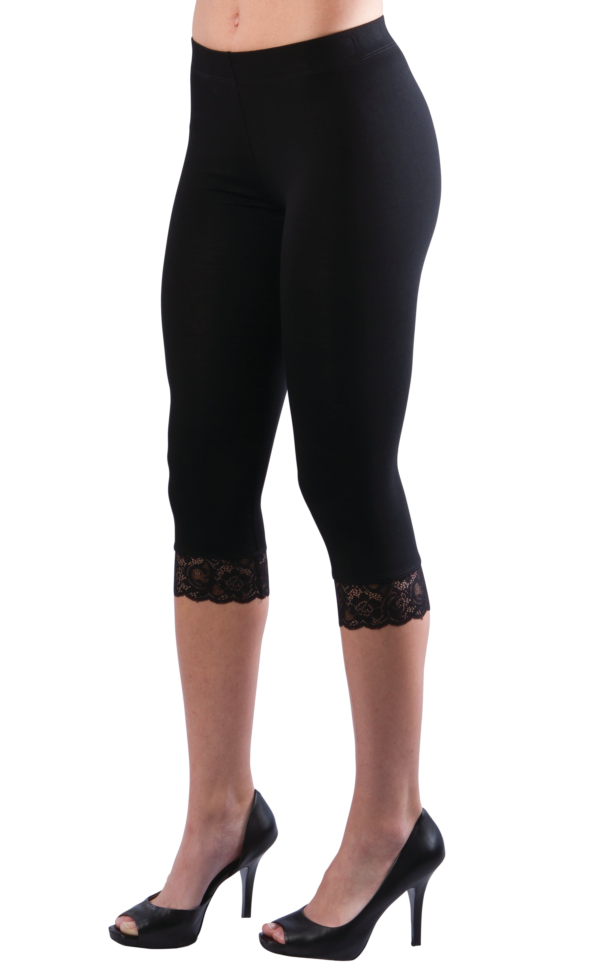 Black 3/4 Leggings