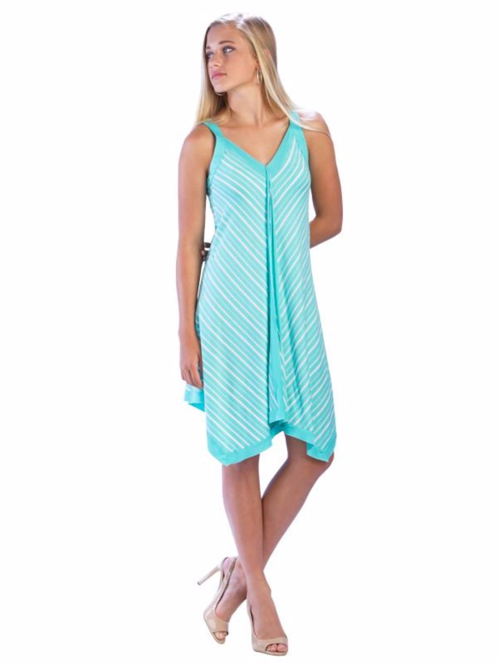 Irregular Hem Dress Mint