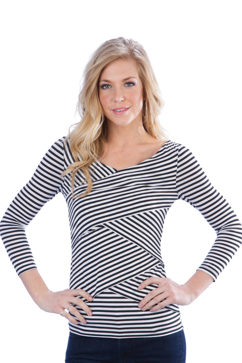 Striped Panel Top
