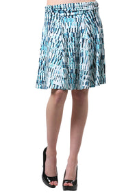 A-Line Panel Skirt with Ruched Band Waist