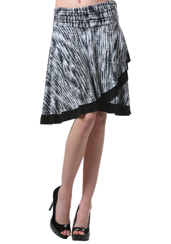 Cross Over A Line Skirt with Trim