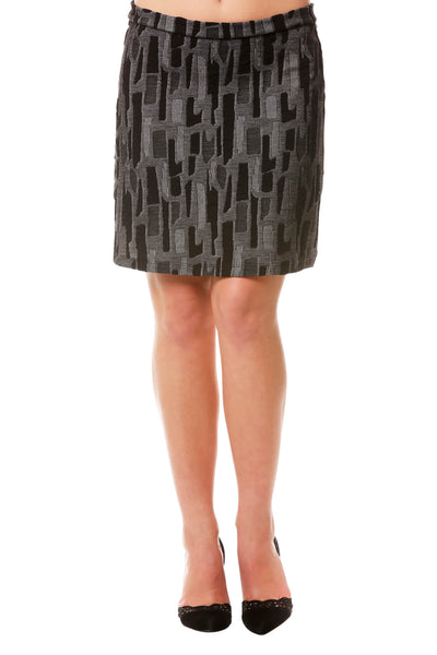 Women's Textured Mini Skirt | Jacquard Textured Skirt for Fall, Neesha