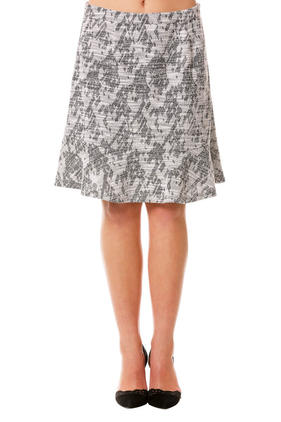 Women's Tweed Ruffle Skirt | A-Line Skirt for Fall | Neesha Fashion in Grey