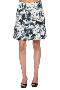 Skater Skirt with Black and White Print