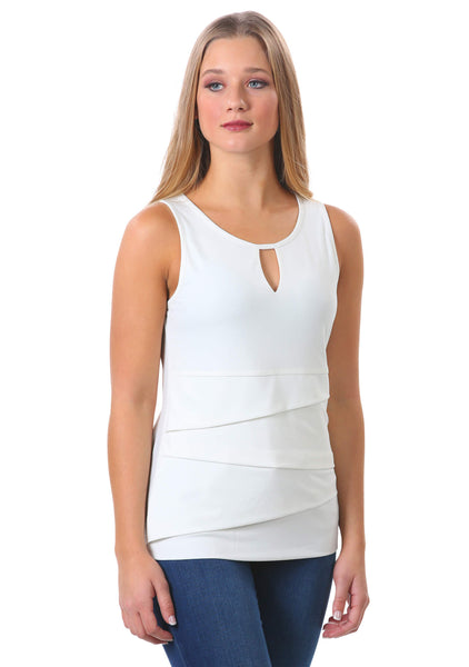 White Tiered Keyhole Tank