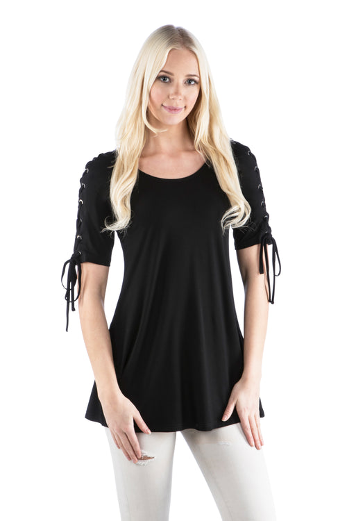 Laced Sleeve Tunic