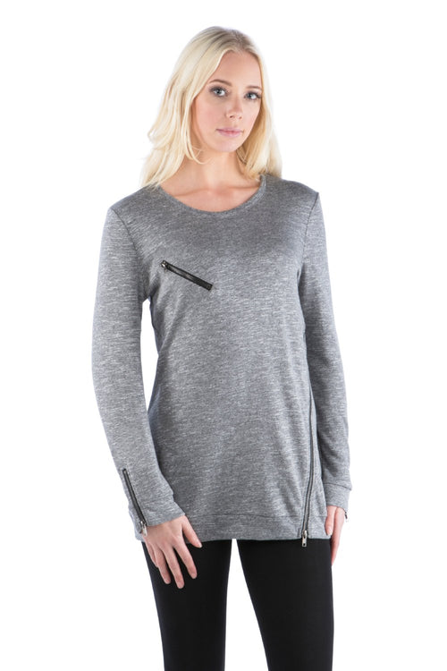 Slub Zipper Tunic