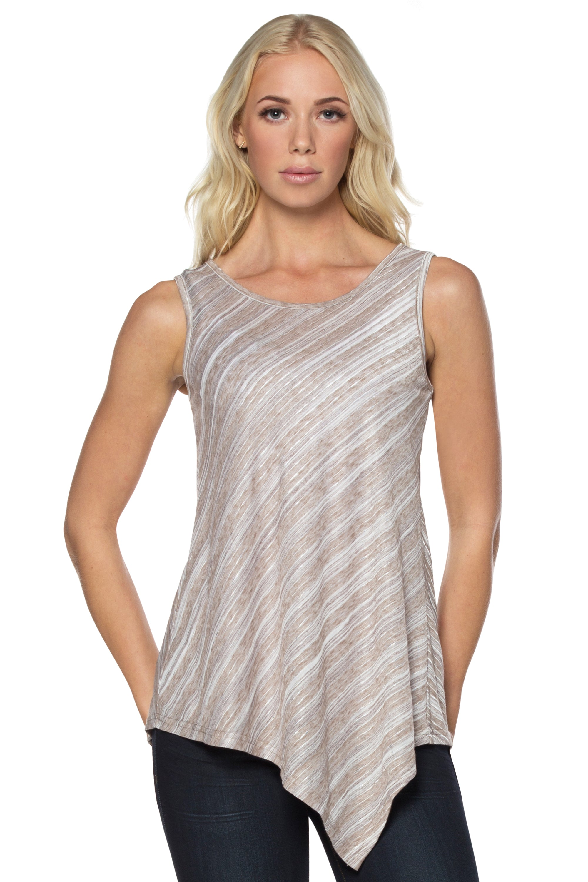 Taupe Striped Tunic