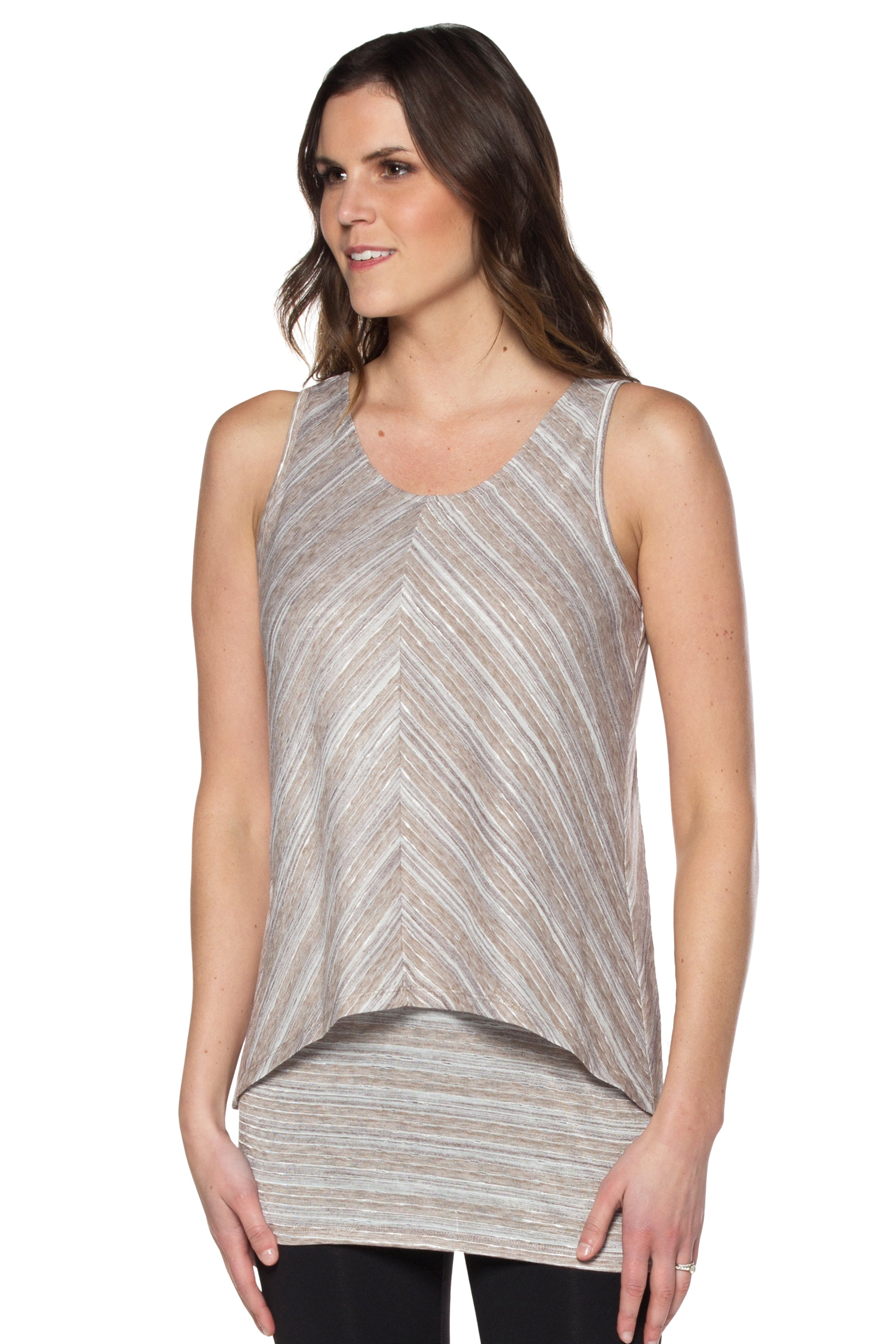Taupe Tunic Top