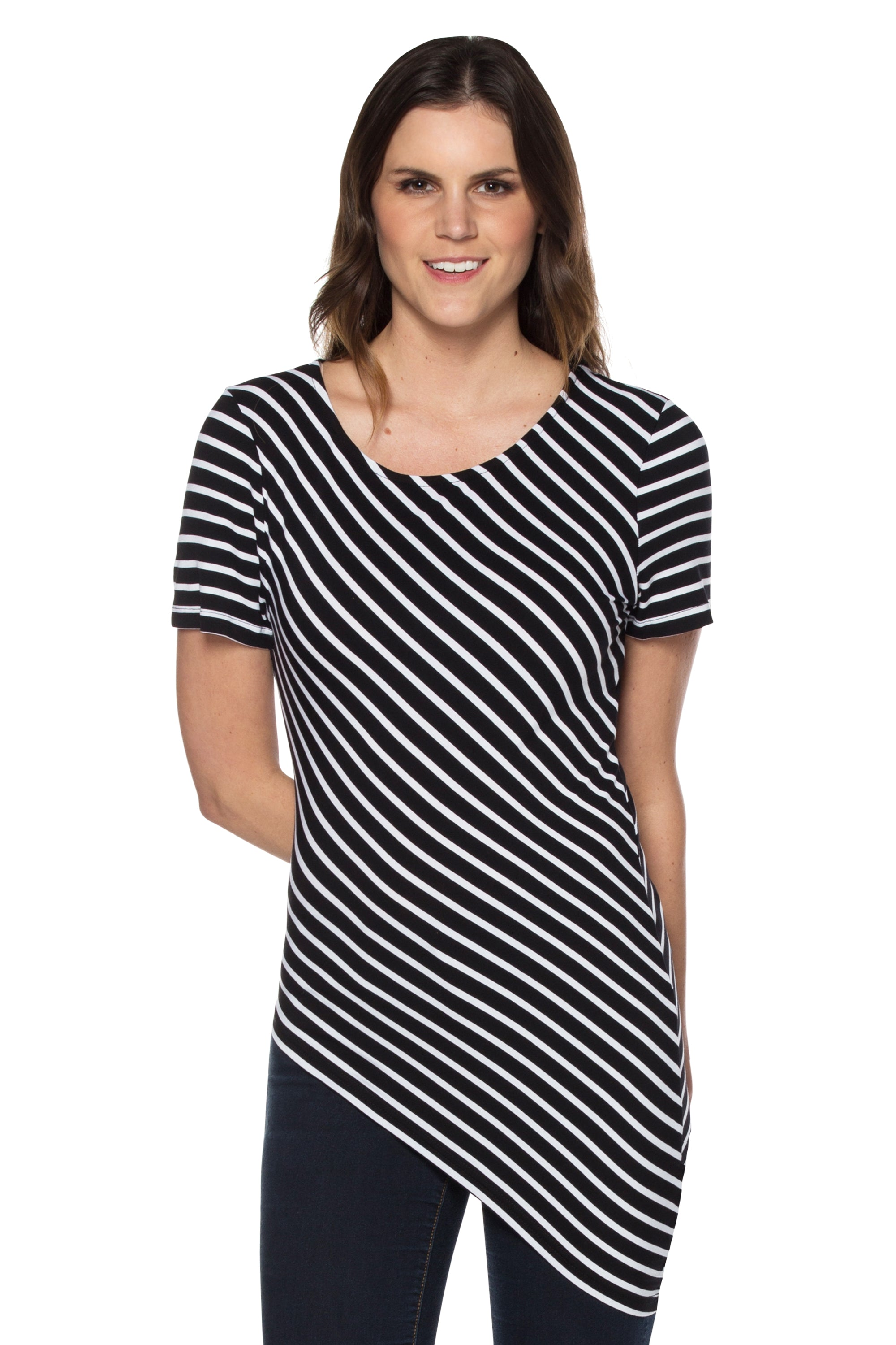 Black/White Striped Tee