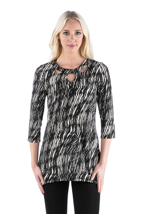 Cut Out Neckline Tunic