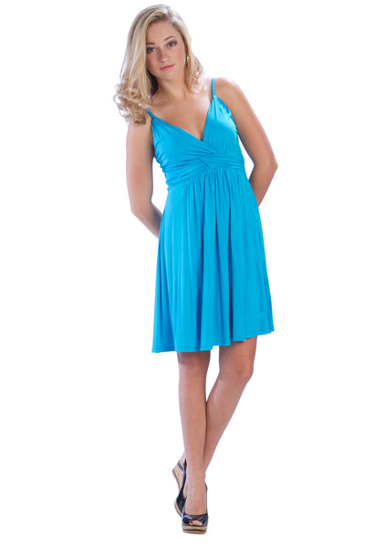 Ruched Waistband Spaghetti Strap Dress