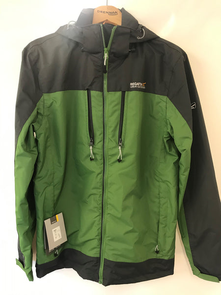 Men's Regatta Waterproof Jacket Green/Grey