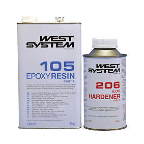 West System Epoxy Resin 6kg B Pack 105/206 Slow Hardener - Jeckells Chandlery Oulton Broad