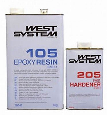 West System Epoxy Resin 6kg B Pack 105/205 Fast Hardener