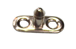 LIFT THE DOT TWO HOLE BASE STUD,SS Single Height  PACK OF 5 - Jeckells Chandlery Oulton Broad