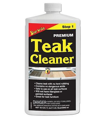 Star brite Teak Care Kit Step 1-2-3 Cleaner - Brightener - Oil - Jeckells Chandlery Oulton Broad