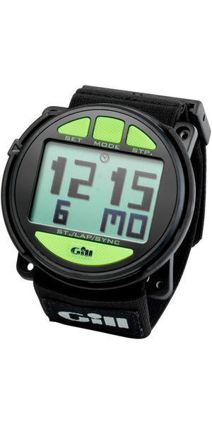 2017 Gill Reggata Race Watch Timer Black-Lime W014 - Jeckells Chandlery Oulton Broad