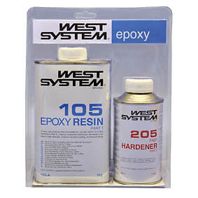 West System Epoxy Resin 1.2kg 105/205 Fast Hardener - Jeckells Chandlery Oulton Broad