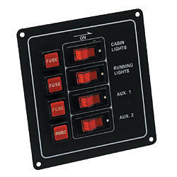 4 WAY FUSE/SWITCH PANEL 10043 - Jeckells Chandlery Oulton Broad