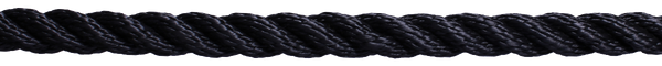 3 Strand Standard Polyester - 8mm Black - Jeckells Chandlery Oulton Broad