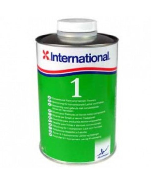 INTERNATIONAL THINNERS NO.1 1000ML MARINE BOAT YACHT PAINT CLEANER - Jeckells Chandlery Oulton Broad