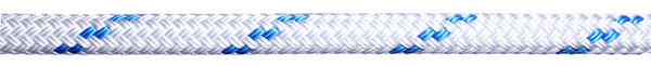 Braid on Braid 16mm White With Blue Fleck - Jeckells Chandlery Oulton Broad