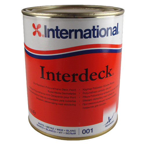 International Interdeck 750ML Slip Resistant Deck Paint, Grey - Jeckells Chandlery Oulton Broad