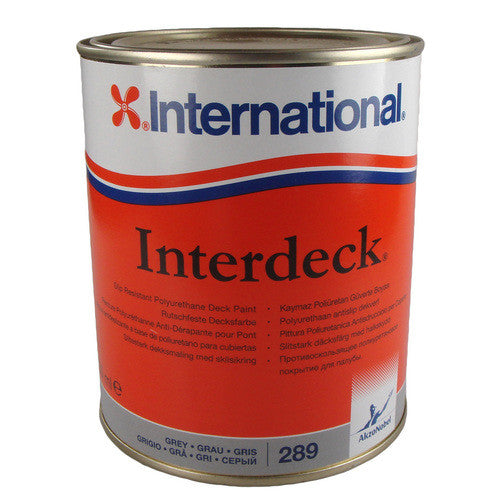 International Interdeck 750ML Slip Resistant Deck Paint, squall Blue - Jeckells Chandlery Oulton Broad