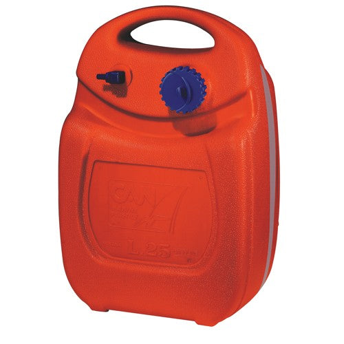 CAN OVAL PLASTIC OUTBOARD FUEL TANK 12L - Jeckells Chandlery Oulton Broad
