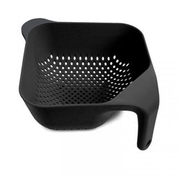 SMALL SQUARE COLANDER BLACK