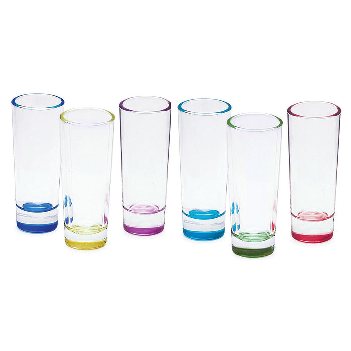SET DE 6 VASOS DE SHOT BLUE VELVET 2.25OZ